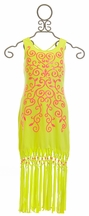 Kate Mack Maxi Dress in Green and Pink (4,6,6X)
