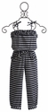 Kate Mack Navy Blue Girls Romper (6 & 12)