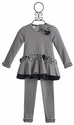 Kate Mack Navy Stripe Little Girls Tunic Set