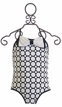 Kate Mack One Piece Bathing Suit for Girls with Polka Dots