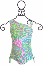 Kate Mack One Shoulder Girls Swimsuit