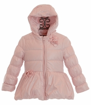 Kate Mack Pink Puffer Coat for Toddlers