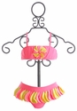 Kate Mack Pinwheel Petals Baby Girls Bikini in Pink