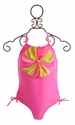 Kate Mack Pinwheel Petals Pink One Piece Swimsuit for Girls