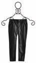 Kate Mack Pleather Jeggings for Girls in Black