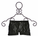 Kate Mack Pleather Shorts for Girls Black