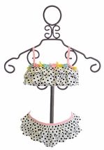 Kate Mack Polka Dotted Swim Bikini with Ruffles (12Mos,18Mos,2T)