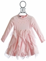 Kate Mack Pretty Kitty Little Girls Pink Dress (Size 12 Mos & 18 Mos)
