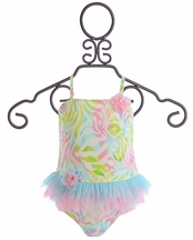 Kate Mack Rainbow Connection Two Piece Swimsuit (Size 12Mos)