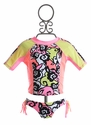 Kate Mack Rash Guard Girls Swimsuit Feeling Groovy (4, 5, 12, 14)