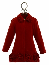 Kate Mack Red Fleece Coat for Girls