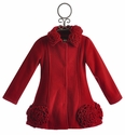 Kate Mack Red Fleece Girls Winter Coat