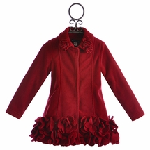 Kate Mack Red Holiday Coat for Girls (Size 4)