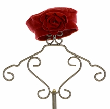 Kate Mack Red Rosette Hat