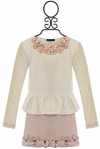 Kate Mack Royal Shimmer Skirt Set for Girls