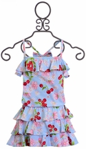 Kate Mack Ruffle Romper for Girls