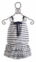 Kate Mack Seaside Petals Striped Romper