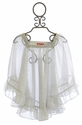 Kate Mack Seaside Shimmer Chiffon Coverup in Silver