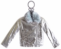 Kate Mack Silver Pleather Jacket Born Wild