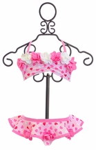 Kate Mack Swim Skirted Bikini with Hearts
