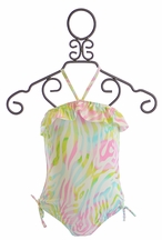 Kate Mack Swim Tank with Ruffles Rainbow Connection (4,5,6,8)