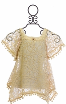 Kate Mack Swimsuit Cover Up Tan Crochet