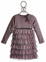 Kate Mack Tiered Girls Dress Lilac Fairy