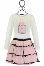 Kate Mack Tres Bien Merci Girls Top and Skirt (5,6X,7,8)