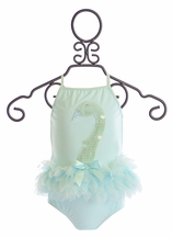 Kate Mack Two Piece Swimsuit Swan Lake in Aqua