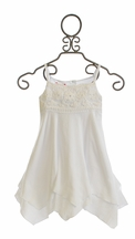Kate Mack White Gauze Dress for Girls Butterfly Beach (Size 14)
