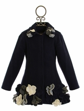 Kate Mack Winter Coat in Navy (3T,5,6X)