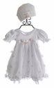 Katie Rose Ashley Girls Bloomer Dress in White (3 Mos, 6 Mos, 9 Mos)