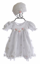 Katie Rose Ashley Girls Bloomer Dress in White