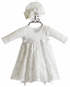 Katie Rose Sara Bloomer Dress with Hat in White (Size 6 Mos)