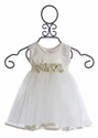 Katie Rose Baby Flower Girls Dress in Ivory (Newborn & 9 Mos)