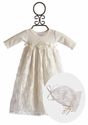 Katie Rose Baby Girls Gown in Ivory Sara