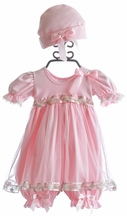 Katie Rose Baby Pink Bloomer Dress Bree (3Mos & 9Mos)