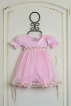 Katie Rose Baby Pink Bloomer Dress Bree (Size 6Mos)