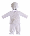 Katie Rose Designer Infant Outfit in White