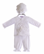 Katie Rose Designer Infant Outfit in White (6Mos & 9Mos)