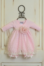 Katie Rose Fancy Baby Dress in Pink