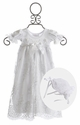 Katie Rose Fancy Baby Gown in White Lace