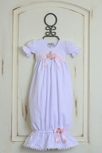 Katie Rose Girls Baby Gown with Short Sleeves