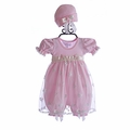 Katie Rose Infant Bloomer Dress Ashley Pink