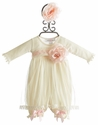 Katie Rose Infant Bloomer Dress in Ivory Abby
