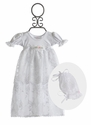Katie Rose Infant Gown with Lace Skirt in White