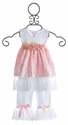 Katie Rose Infant Pink Dress with Lace and Legging (Newborn & 3 Mos)