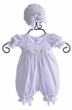 Katie Rose Infant Take Home Outfit White Ashley Romper (Size 6 Mos)