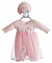 Katie Rose Leila Infant Girls Bloomer Dress and Hat