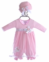 Katie Rose Leila Infant Girls Bloomer Dress and Hat (Newborn, 3 Mos, 9 Mos)